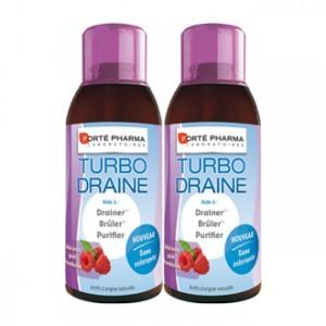 forté pharma turbodraine lot 2 dont 50 % sur la 2 bouteille et 1 sac isotherme offert draineur bruleur purifiant minceur régime hyperpara