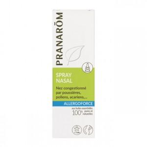 Pranarôm Allergoforce - Spray Nasal 15 ml Nez congestionné par poussières, pollens, acariens… Convient pour la femme enceinte ou allaitante