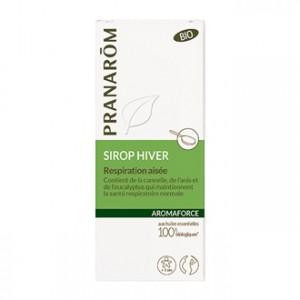 Pranarôm Aromaforce - Sirop Hiver BIO 150 ml Respiration aisée Contient de la cannelle, de l'anis et de l'eucalyptus qui maintiennent la santé respiratoire normale