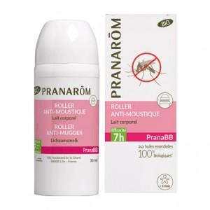 Pranarom Prana BB - Roller Anti-Moustique BIO - 30 ml Lait corporel 100% huiles essentielles biologiques Efficacité 7 heures Dès 6 mois