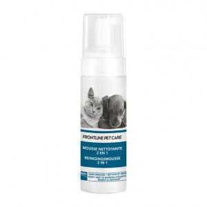 Frontline Pet Care - Mousse Nettoyante 2 en 1 - 150 ml Sans rinçage, nettoie et démêle Pour chien et chat