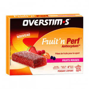 Overstims Fruit'n Perf Antioxydant Saveur Fruits Rouges 4 Pâte de Fruits