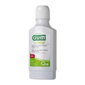 Gum ActiVital - Bain de Bouche Q10 - 300 ml Gencives et dents saines au quotidien Sans paraben et sans alcool 7630019902625