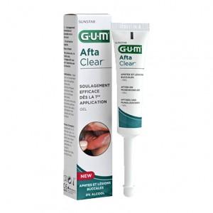 Gum Afta Clear - Gel - 10 ml Soulage efficacement dès la 1ère application Aphtes et lésions buccales Sans alcool, sans paraben, sans sucre Adulte et enfant