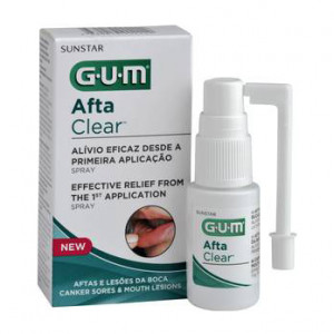 Gum Afta Clear - Spray - 15 ml Soulagement efficace dès la 1ère application Aphtes et lésions buccales