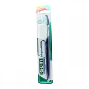 Gum Original White - Brosse à Dents Soft Avec étui de protection pour la tête de la brosse à dents