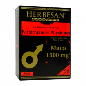 Herbesan Maca+ 1500 mg - 90 Comprimés Performance physique 3428883642501
