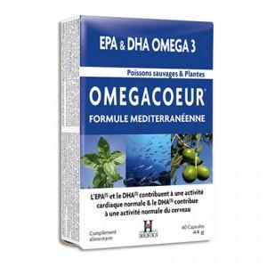 Omegacoeur - EPA&DHA Omega3 - Formule Mediterranéenne - 60 Capsules
