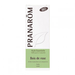 Pranarôm Huile Essentielle Bois de Rose 5 ml BIO Aniba rosaeodora Feuille Linalol 100% pure et naturelle