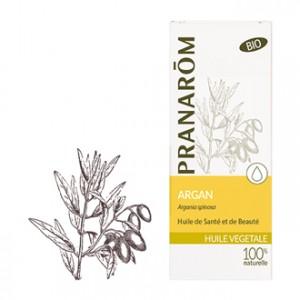 Pranarôm Huile Végétale - Argan Argania spinosa BIO 50 ml Huile anti-âge réparatrice et protectrice cutanée, riche en vitamines et antioxydants.