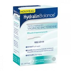 HydralinBalance - 7 Tubes à Usage Unique Gel vaginal Traite les symptômes de la vaginose bactérienne Triple action Rétablit, élimine et restaure