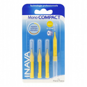 inava mono compact brossettes 4 unites espace interdentaire etroits 2,5 2,2 mm hyperpara