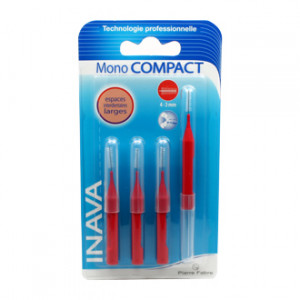 inava mono compact brossettes 4 unites espace interdentaire large 4 - 3 mm hyperpara