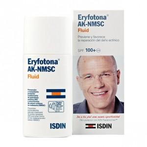 ISDIN Eryfotona AK - Fluid SPF100+   -  50 ml Prévient et améliore le traitement des lésions cutanées actiniques Film protecteur avec de l'ADN Repairsomes