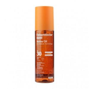 ISDIN  Fotoprotector Active Oil SPF30 - 200 ml Renforce la protection naturelle de la peau Toucher sec Résistant à l'eau