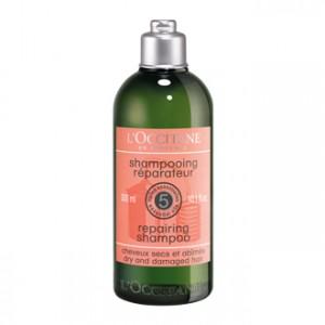 L'Occitane en Provence Aromachologie - Shampooing Réparateur - 300 ml Pour cheveux secs et abîmés Redonne force et brillance