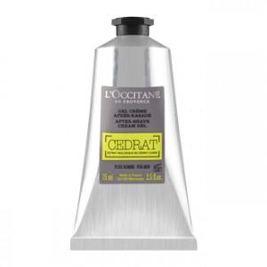 L'Occitane en Provence Cédrat - Gel Crème Après Rasage 75 ml Pour homme Extrait biologique de Cédrat Corse Hydrate et apaise la peau