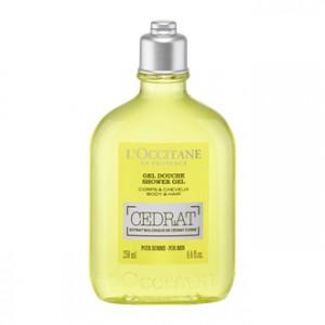 L'Occitane en Provence Cédrat - Gel Douche Cédrat 250 ml Pour homme Extrait biologique de Cédrat Corse Corps et cheveux
