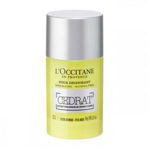 L'Occitane en Provence Cédrat  - Stick Déodorant 75g Pour homme Extrait biologique de Cédrat Corse Sans alcool
