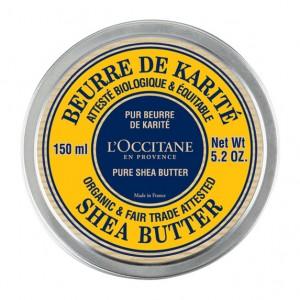 L'Occitane en Provence Beurre de Karité Certifié BIO et Contrôlé Equitable - 150 ml Pur beurre de karité Enrichi en Vitamine E Nourrit et adoucit