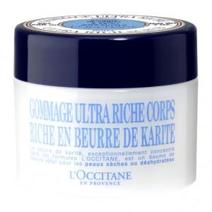 L'Occitane en Provence Karité - Gommage Ultra Riche Coprs - 200 ml Beurre de karité 10% Pour les peaux sèches et fragiles Préserve du dessèchement