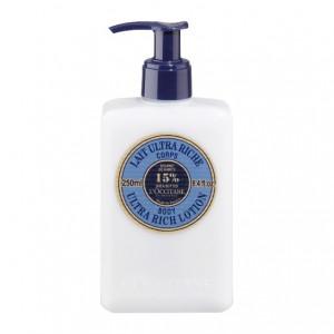 L'Occitane en Provence Karité - Lait Ultra Riche Corps - 250 ml Beurre de karité 15% Nourrit et protège les peaux sèches