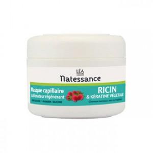 léa nature natessance masque capillaire sublimateur régénérant ricin et kératine végétale 200 ml pour cheveux normaux secs fragilisés soin capillaire hyperpara
