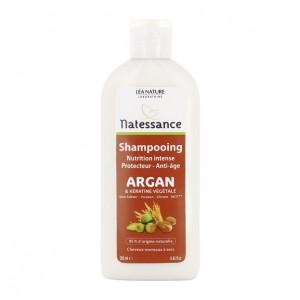 Léa Nature Natessance - Shampooing Nutrition Intense Portecteur Anti-Âge - 250 ml Argan & kératine 95% d'origine naturelle Cheveux normaux à secs