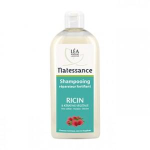 léa nature natessance shampooing réparateur fortifiant ricin et kératine végétale 500 ml pour cheveux normaux secs fragilisés soin capillaire hyperpara
