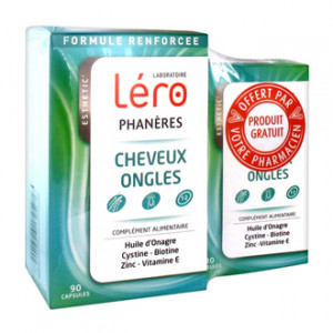Léro PHANERES - Cheveux et Ongles 90 Capsules + 30 Capsules OFFERTES