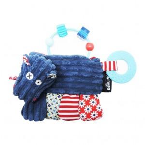 Les Déglingos Hochet d'Activités Hippipos L'Hippopotame Dès la naissance Lavable en machine à froid Séchage à l'air libre