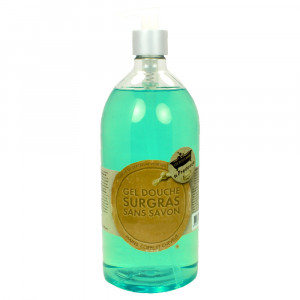 Les Petits Bains de Provence Savon Liquide de Marseille Monoï 1 Litre Hygiène du corps, des cheveux et des mains Hyperpara