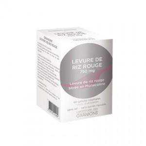 Levure de Riz Rouge 750 mg 60 Gélules