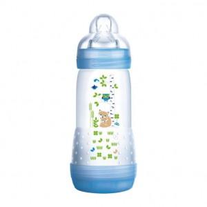MAM Easy Start Anti-Colique - Biberon Nature Meadow - 320 ml 0+ mois Débit 3 Tétine ultra-douce Nettoyage facile 0% BPA