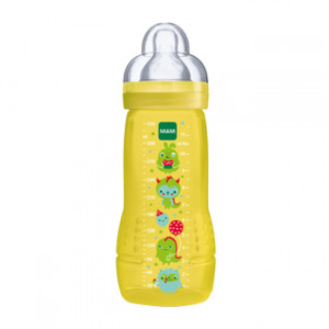 mam biberon second age 6 mois et plus 330 ml yellow tetine ultra douce biberon bebe hyperpara