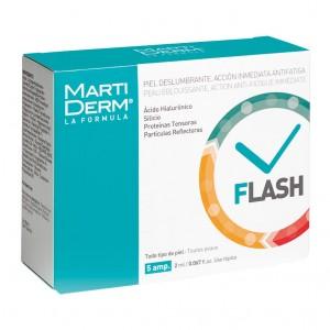 MartiDerm Flash - 5 Ampoules Peau éblouissante Action anti fatigue immédiat Toutes peaux