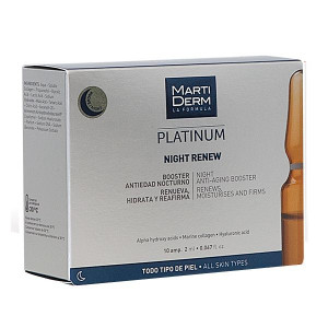 Martiderm Platinum - Night Renew - 10 Ampoules