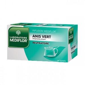Mediflor Infusion - Anis Vert 24 Sachets Effet apaisant et agréable sur la gorge, le pharynx et les cordes vocales