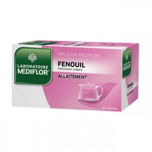 Mediflor Infusion - Fenouil 24 Sachets Favorise la production de lait maternel Allaitement