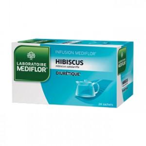 Mediflor Infusion - Hibiscus 24 Sachets Stimule les fonctions d'élimination urinaire de l'organisme