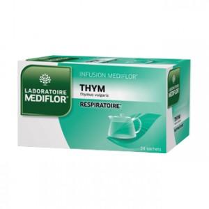 Mediflor Infusion - Thym 24 Sachets Effet apaisant et agréable sur la gorge, le pharynx et les cordes vocales