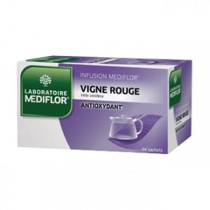 Mediflor Infusion - Vigne Rouge 24 Sachets Aide à prévenir les dommages oxydatifs