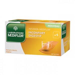 Laboratoire Mediflor Infusion - Inconfort Digestif N°5 - 24 Sachets Facilite la digestion
