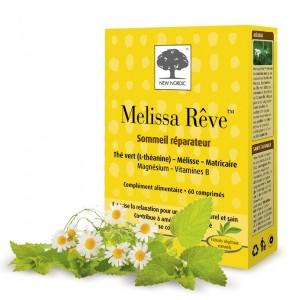 New Nordic Melissa Rêve 60 Comprimés Combat le stress et améliore le sommeil