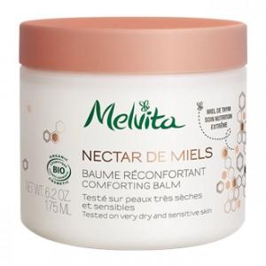 Melvita Nectar de Miels - Baume Réconfortant 175 ml Testé sur peaux très sèches et sensibles Miel de thym Soin nutrition extrême BIO