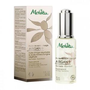 melvita huile de soin visage argan+ 30 ml fermete nutrition peau du visage