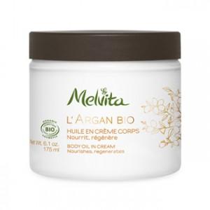 melvita l'argan bio huile en crème corps 175 ml soin corps bio nourrit régénère pour redonner à votre peau sa souplesse hyperpara