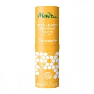 Melvita Stick Lèvres Réparateur 3.5g A la cire d'abeille Soin ultra-nourrisant lèvres BIO