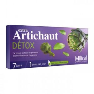 Milical Extra Artichaut Détox 7 Doses Détoxification de l'organisme 7 jours de cure