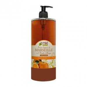 MKL Geen Nature Savon Liquide de Marseille à l'Huile d'Argan - Parfum Orange Miel - 1 L Corps, visage et mains A l'huile d'argan 3760162120431